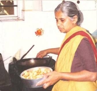 Annie cooking